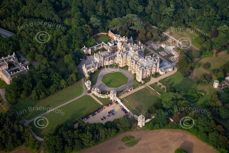 Aerial photo of the University of Evansville at Harlaxton near Grantham, Lincolnshire.