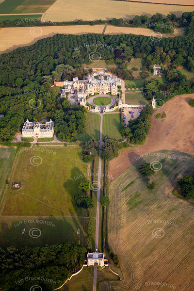 Aerial photo of the University of Evansville at Harlaxton, Lincolnshire.