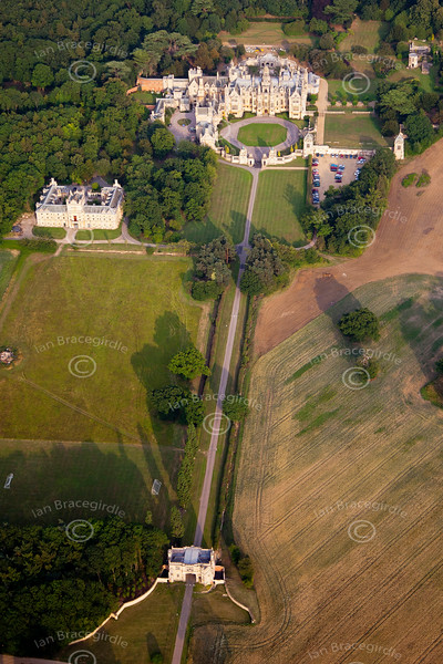 Aerial photography of the University of Evansville at Harlaxton, Lincolnshire.