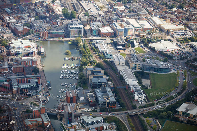 Aerial photo of Brayford Way..