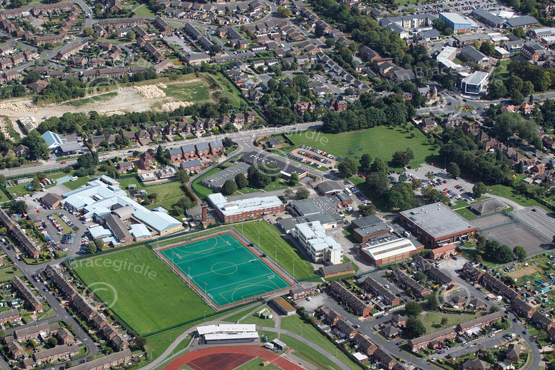 Aerial photo of Lincoln Castle Academy.