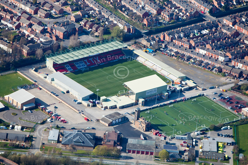 Lincoln City Football Club  from the air.