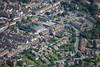 Aerial photo of Upper Long Leys Road.