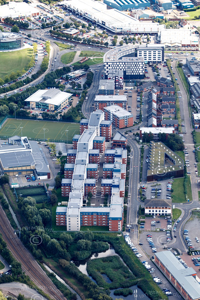 Aerial photo of Lincoln University.