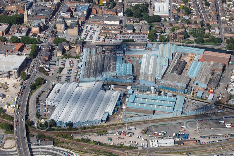 Aerial photo of Siemens factory.