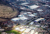 Tritton Road retail park in Lincoln from the air.