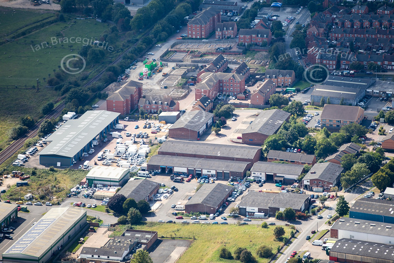 Aerial photo of Crofton Road Industrial Estate.