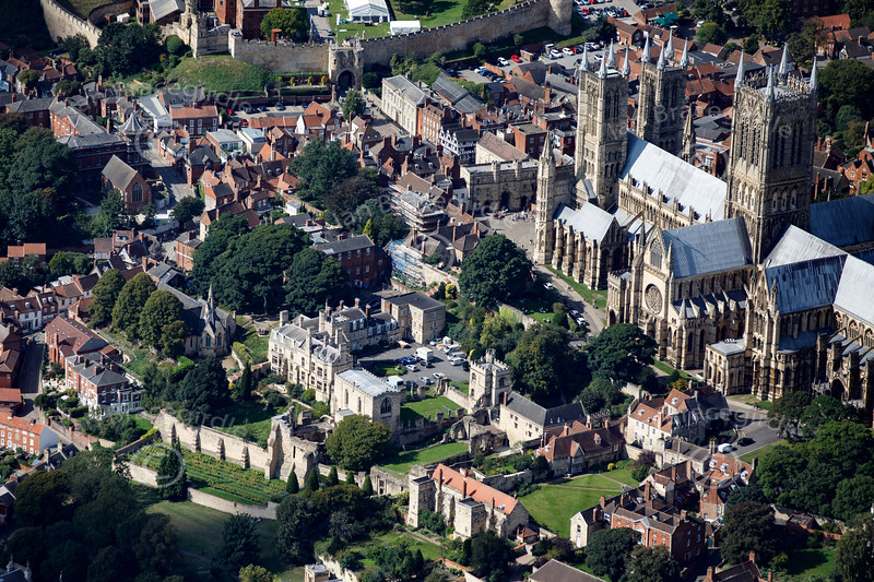 Aerial photo of the Bishop's Palace.