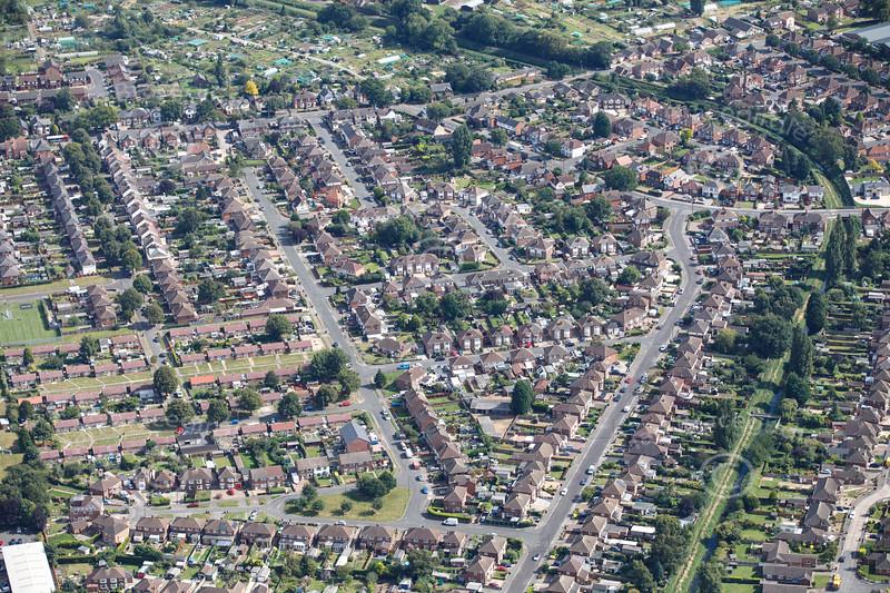 Aerial photo of Boultham.