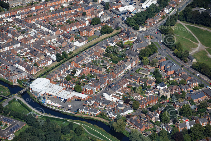 Aerial photo of Wier Street.
