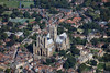 An aerial photo of Lincoln Cathedral.
