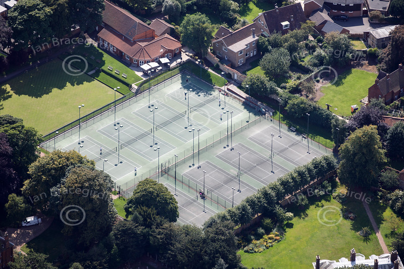 Aerial photo of Eastgate Tennis Club.