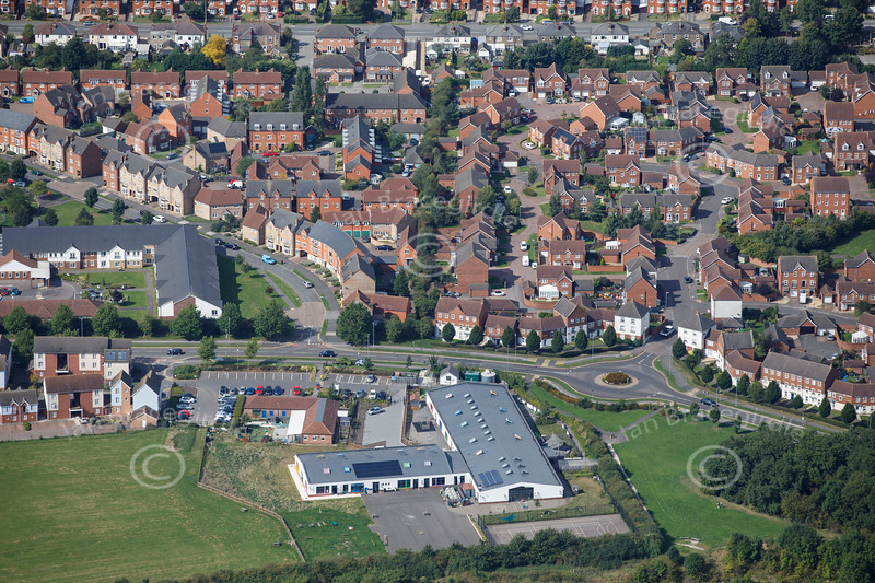 Aerial photo of Greetwell Hollow Day Nursery.