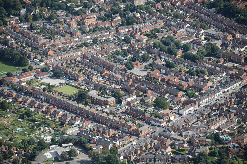 Aerial photo of Burton Road.