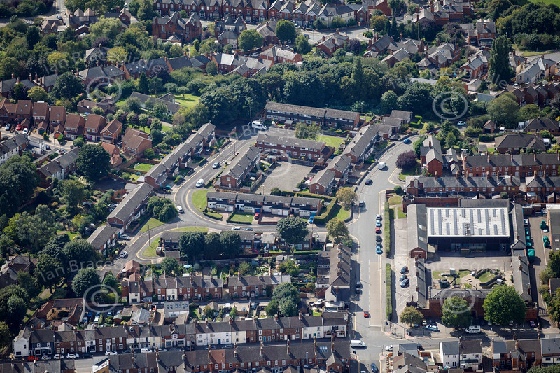 Aerial photo of The Museum of Lincolnshire Life.