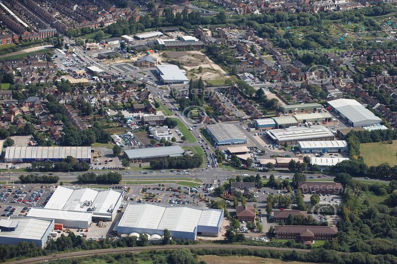 Aerial photo of Tritton Road.