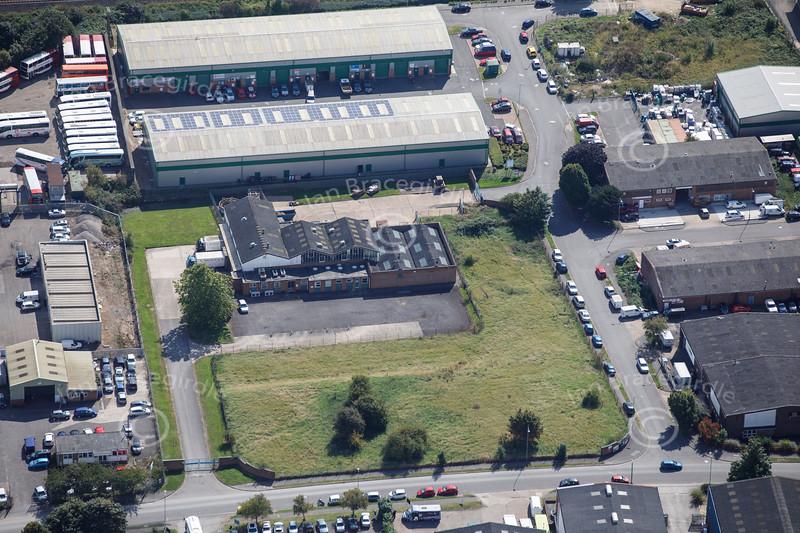 Aerial photo of Crofton Road Industrial Estate.