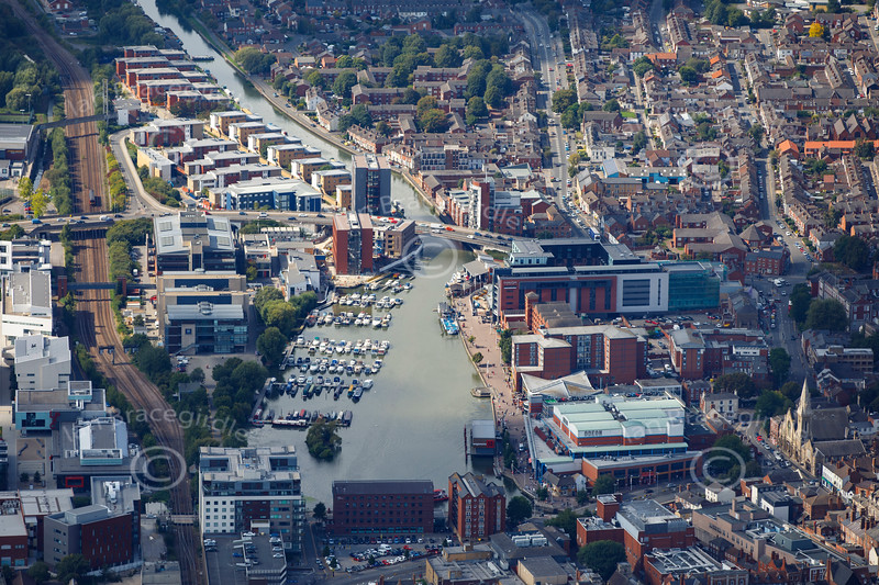 Aerial photo of Brayford Pool.
