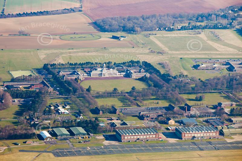 Aerial photo of RAF Cranwell.