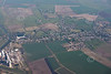 An aerial photo Bardney in Lincolnshire.