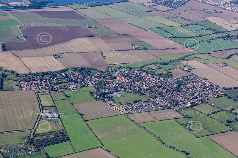 Aerial photo of Bassingham in Lincolnshire