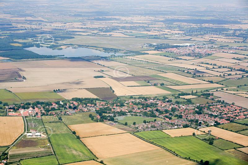 Aerial photo of Bassingham.