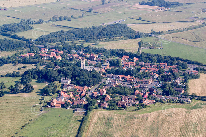 Aerial photo of Beckingham in Lincolnshire.