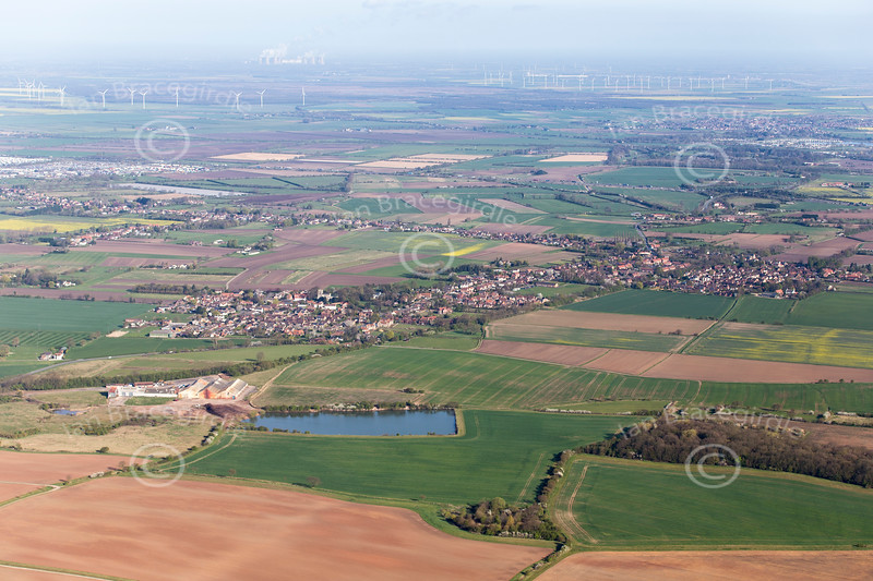 Aerial photo of Belton in Lincolnshire.