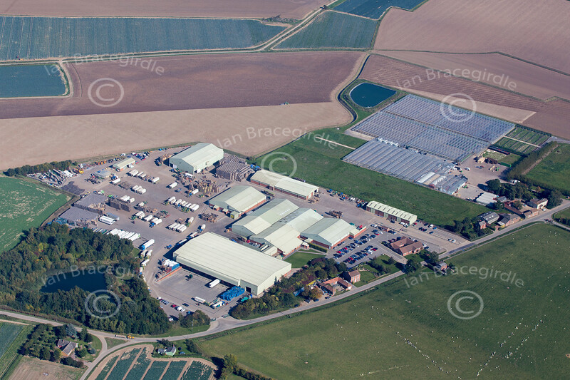 Aerial photo of Benington in Lincolnshire