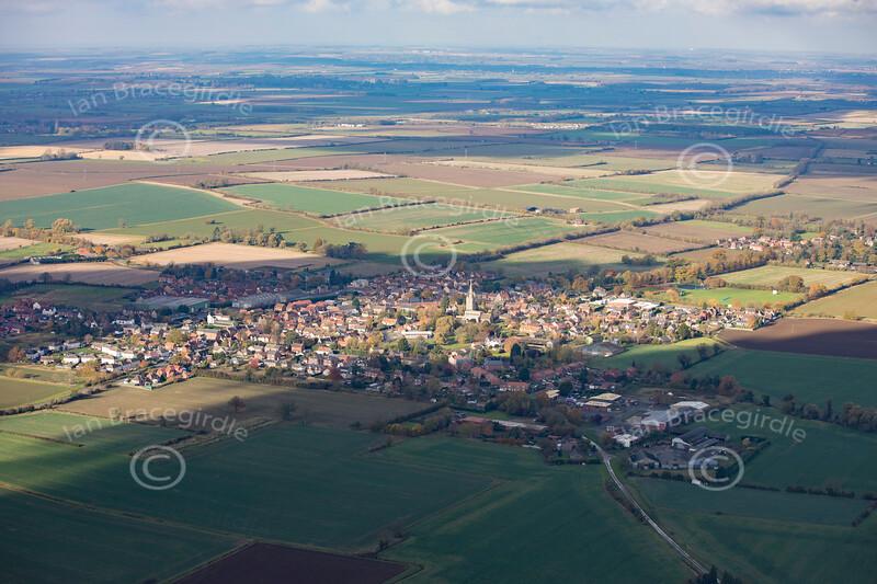 Aerial photo of Billingborough.