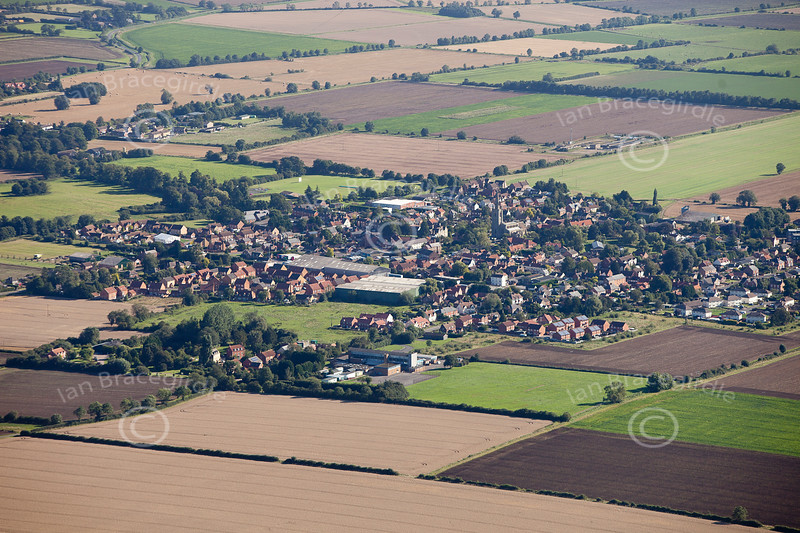 An aerial photo of Billingborough in Lincolnshire.