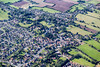 An aerial photo of Burgh Le Marsh village in Lincolnshire.