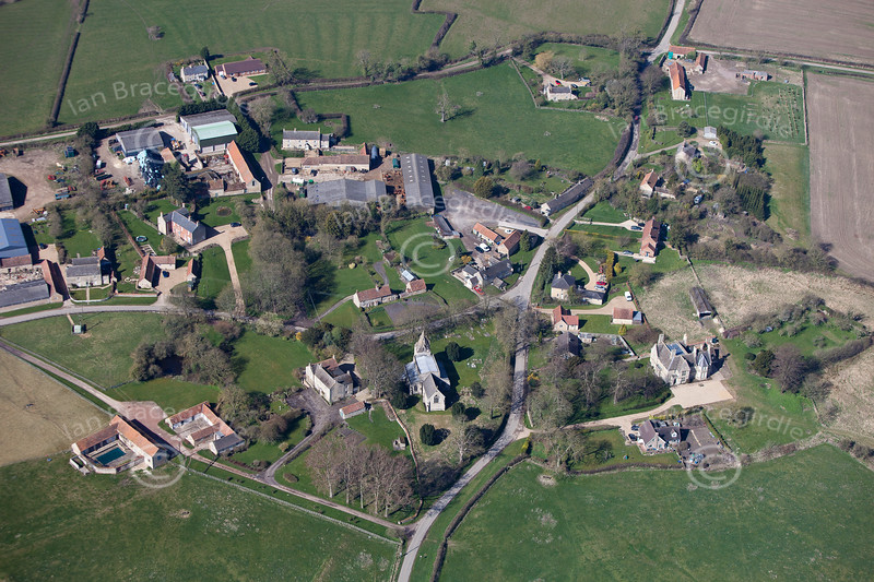 Aerial photo of Burton Coggles.