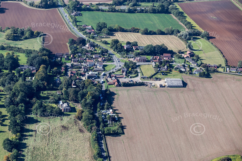 Aerial photo of Candlesby village in Lincolnshire