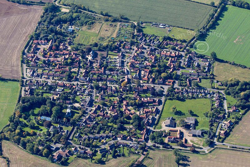 Aerial photo of rial photo of Carlton Le Moorland in Lincolnshire.