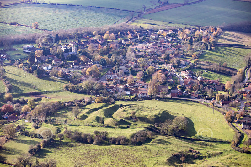 Aerial photo of Castle Bytham.