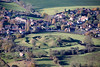 Aerial photo of Castle Bytham Motte and Bailey.