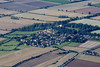 Aerial photo of Coleby in Lincolnshire.