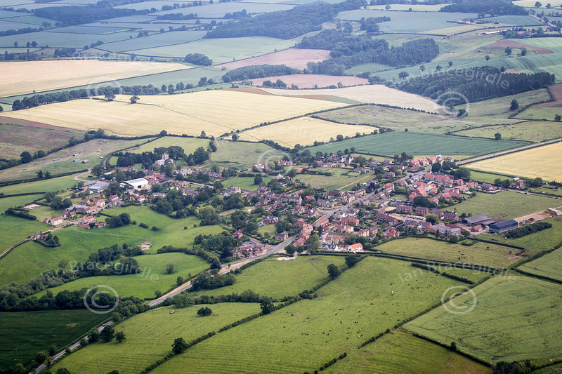 Aerial photo of Croxton Kerrial