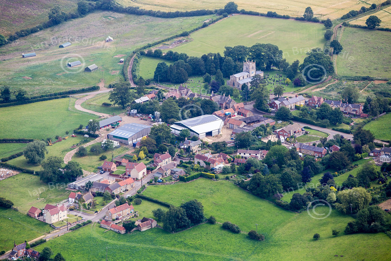 Aerial photo of Croxton Kerrial