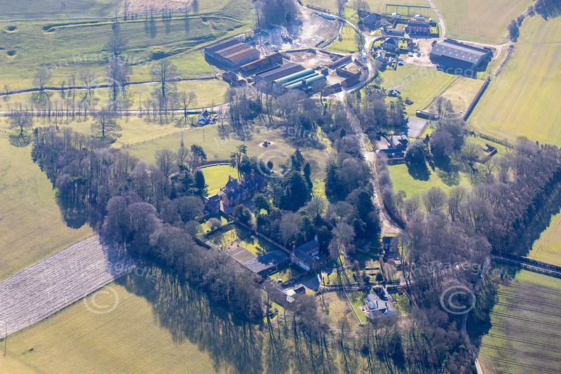 Aerial photos of Cuxwold.