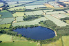 Aerial photo of Denton reservoir in Lincolnshire.