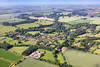 Aerial photo of Denton in Lincolnshire.