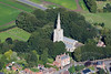 An aerial photo of Donington Church in Lincolnshire.