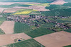 An aerial photo of Fockerby and Garthorpe in Lincolnshire.