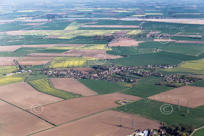Aerial photo of Fockerby and Garthorpe.