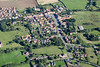 Aerial photography of Folkingham village in Lincolnshire.