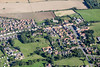 An aerial photo of Folkingham village in Lincolnshire.