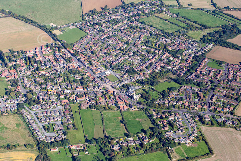 Aerial photo of Great Gonerby in Lincolnshire.
