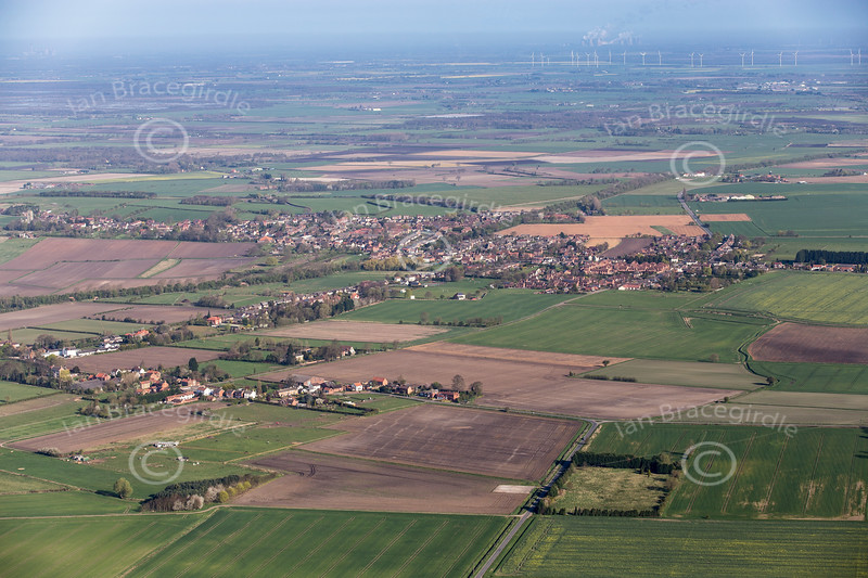 Aerial photo of Haxey.
